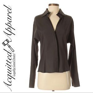 Rene Lezard   Brown Classic Button Up Shirt
